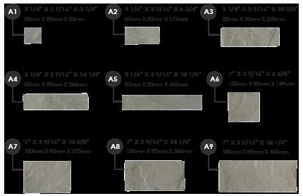 Dimensions de chaque pierre capitale