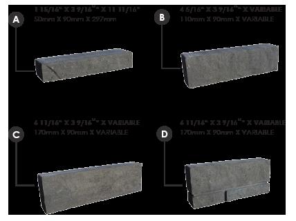 Dimensions de chaque pierre novello