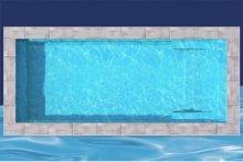 piscine creusee en fibre de verre de 11x25