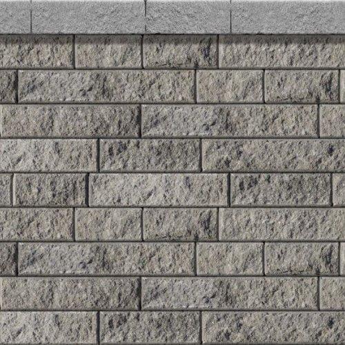 muret decoratif rio 90 de couleur charbon cendre